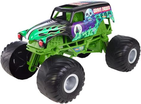 monster truck toys grave digger wheels monster jam 1 10 scale diecast vehicle giant
