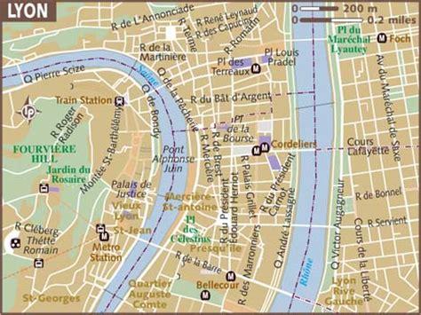 lyon on a map map of lyon