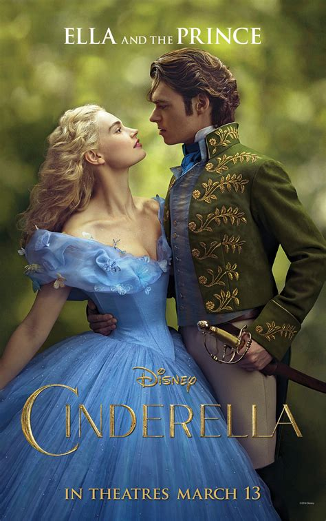 cinderella film year new cinderella posters with fairy godmother and prince