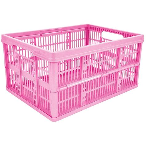 foldable storage containers 32l plastic folding storage container basket crate box