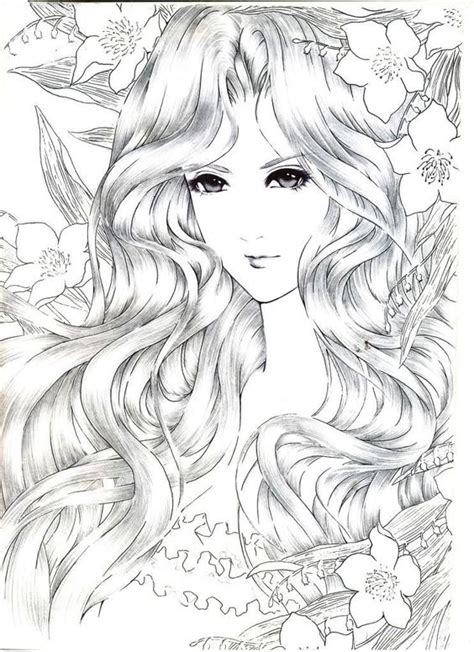 coloring pages of people s faces coloration fleur and photos on pinterest