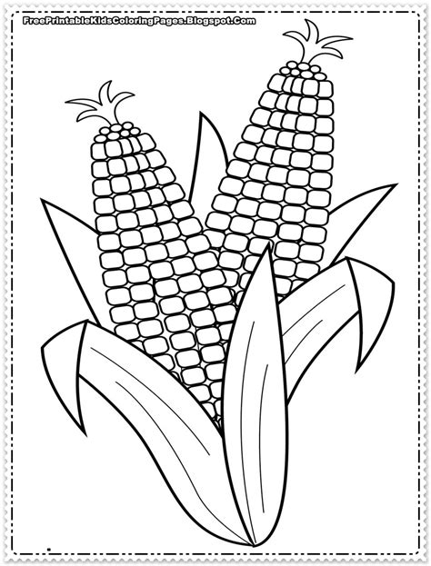 corn coloring pages printable free printable kids