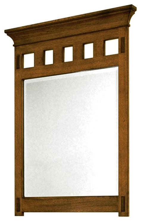 craftsman mirrors bathroom american craftsman mirror rustic oak craftsman