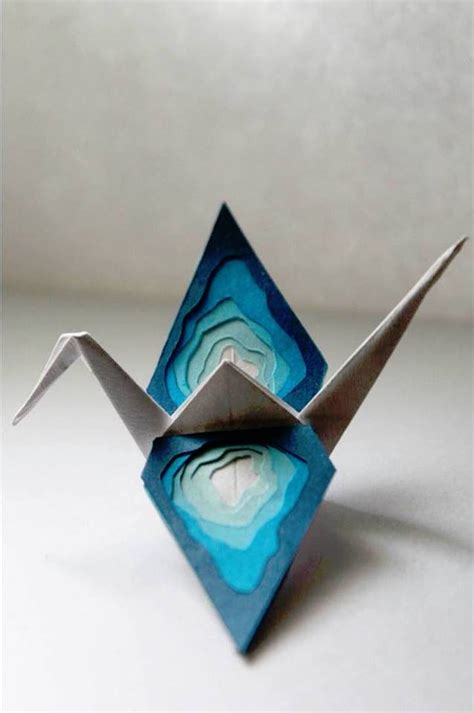 Origami Crane Wish - artist folds a new paper crane to describe each day of the