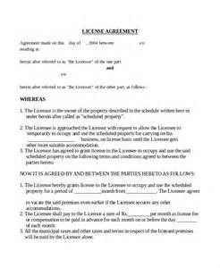 Template License Agreement doc 575709 software license agreement template