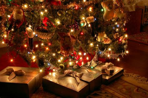 gifts under the christmas tree pictures photos and