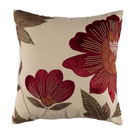 pillows with in them 18 quot x 18 quot fall floral pillow beige 6798967 hsn