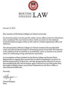 Boston College Admission Letters Office Of School Lgbt Vandalized With Hateful Graffiti Mlk Day Weekend Above