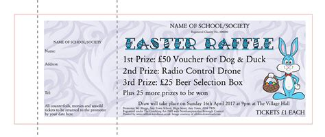 printable easter tickets raffle tickets raffle ticket printers uk pta raffle