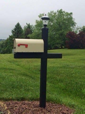 mailbox post solar light all deck d out mailbox post mailbox solar light for