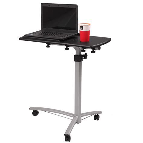 rolling laptop desk adjustable adjustable angle height desk hospital home laptop tray