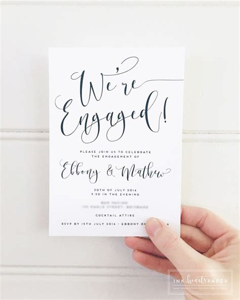 engagement invitations 25 best ideas about engagement announcement cards on