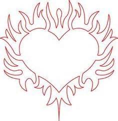 coloring pages of hearts with flames of hearts with flames free coloring pages on art