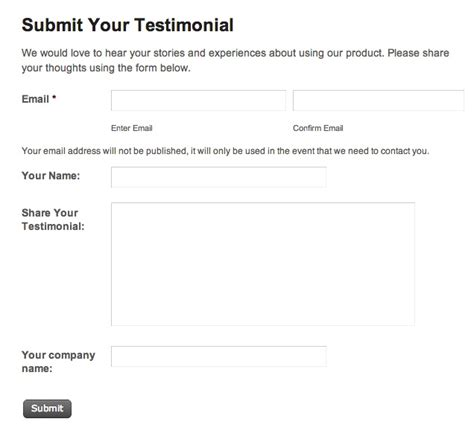 personal trainer testimonial template how to collect user submitted testimonials on your