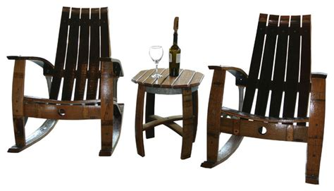 wine barrel furniture outdoor lounge chairs other