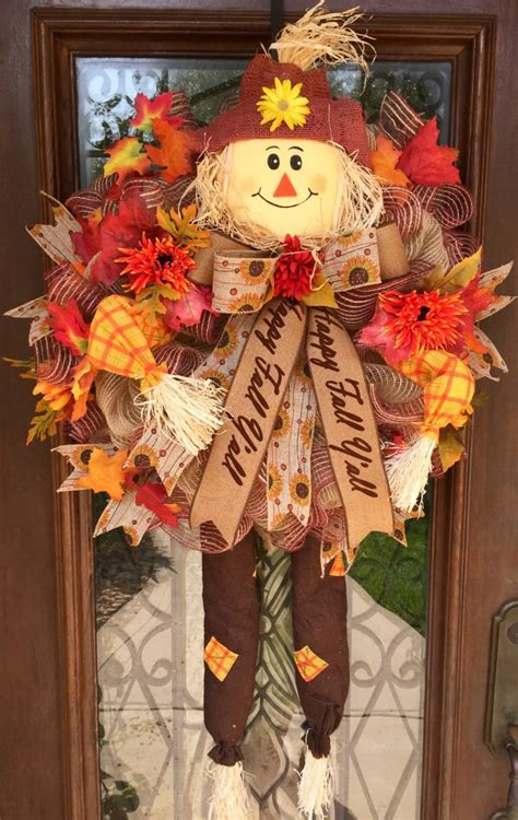 scarecrow decorations fall 115 cool fall wreath ideas shelterness
