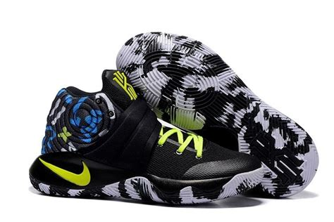 neon basketball shoes nike kyrie 2 camo black neon green basketball shoes