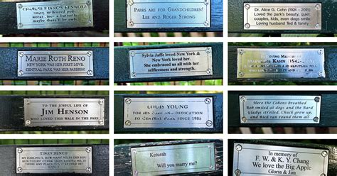 Park Bench Stories 4 223 central park benches with stories to tell the new
