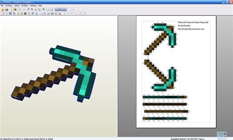 Origami Minecraft Pickaxe - minecraft pickaxe by benderxable on deviantart