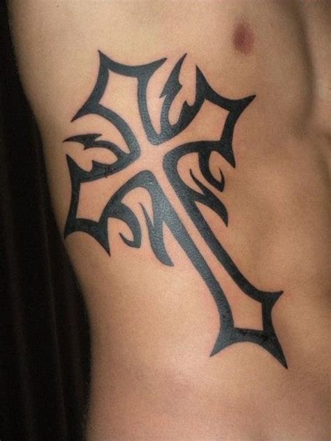 cross tattoos for men on ribs tattooic