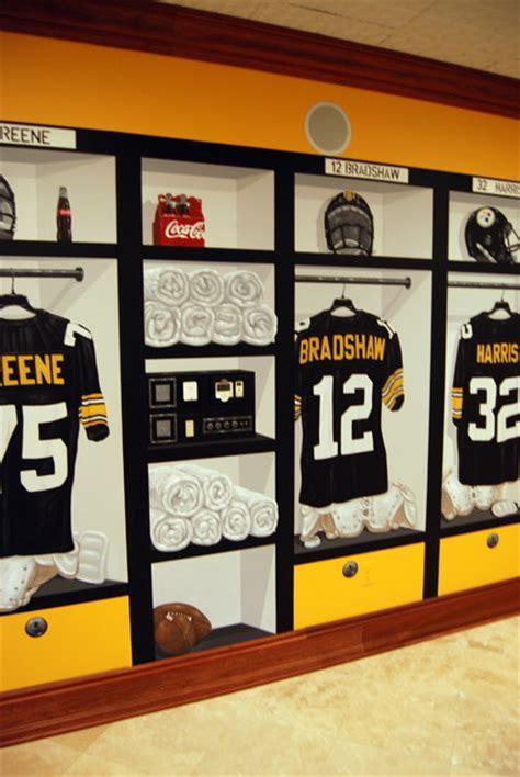 Steelers Locker Room by Pittsburgh Steelers 1970 S Themed Locker Room Murals In A