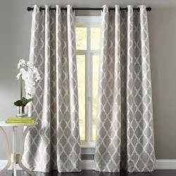 Gray Blue Curtains Designs Moorish Tile Gray Grommet Curtain The Floor Patterns And Window