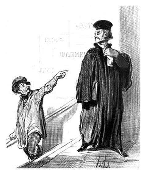 law and justice portfolio original art by honoré daumier