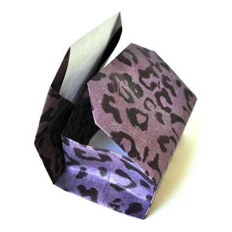 Origami Cheetah - square semicolon tie tack fabled treasures