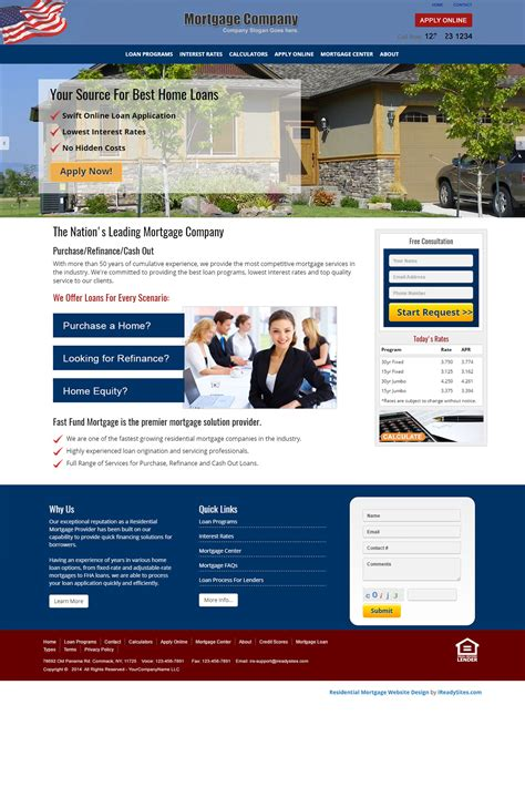 Residential Mortgage Website Templates Mortgage Web Template
