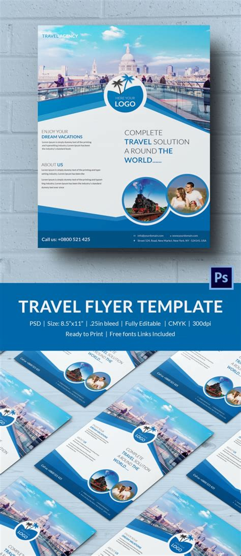 vacation flyer template travel flyer template 43 free psd ai vector eps