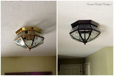 Spray Painted Light Fixtures Light Fixtures Design Ideas Painting Lighting Fixtures