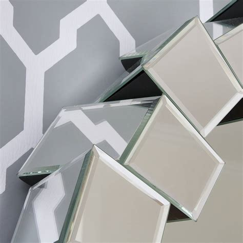 How High To Hang A Picture On A Wall by Contemporary Block All Glass Mirror By Decorative Mirrors