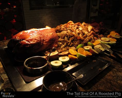 Tail End Of A Whole Roasted Pig In Las Vegas Polynesian Silverton Casino Buffet