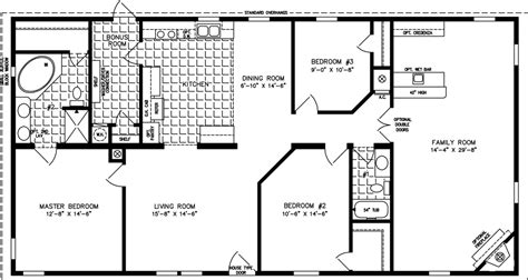 1800 Square Foot Floor Plans by 1800 To 1999 Sq Ft Manufactured Home Floor Plans