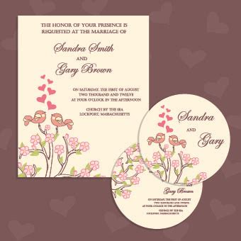 small invitation cards templates wedding invitation with dvd kit design vector 04 welovesolo