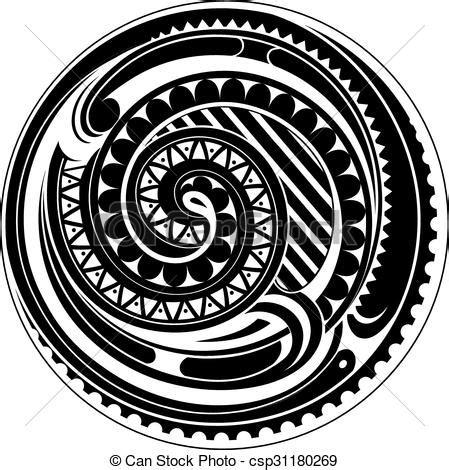 maori clipart clip vecteur de tatouage cercle maori circle
