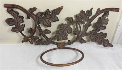 Cast Iron Wall Planter by Antique Vintage Cast Iron Acorn Leaves Ornate Wall Mount