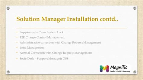 tutorial sap solution manager sap solution manager 7 1 online training