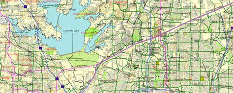 map usa dallas dallas fort worth printable atlas 25 parts vector