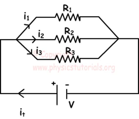 three resistors connected in parallel each carry currents labeled combination of resistors with exles