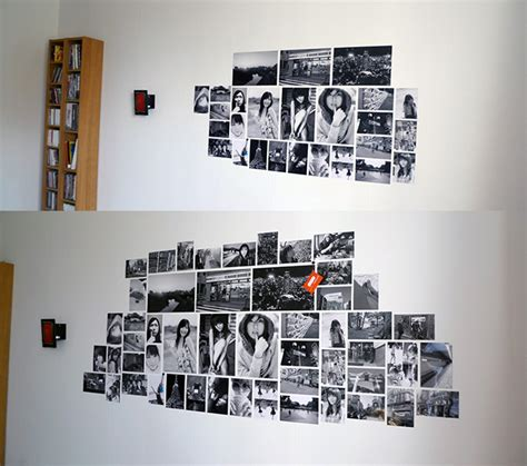 how to put photos on wall without photo wall collage without frames 17 layout ideas