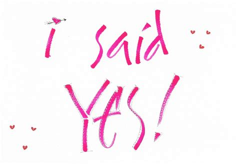 Yes I Said by Kerrlligraphy I Said Yes