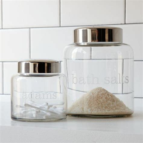 west elm bathroom storage apothecary jars west elm