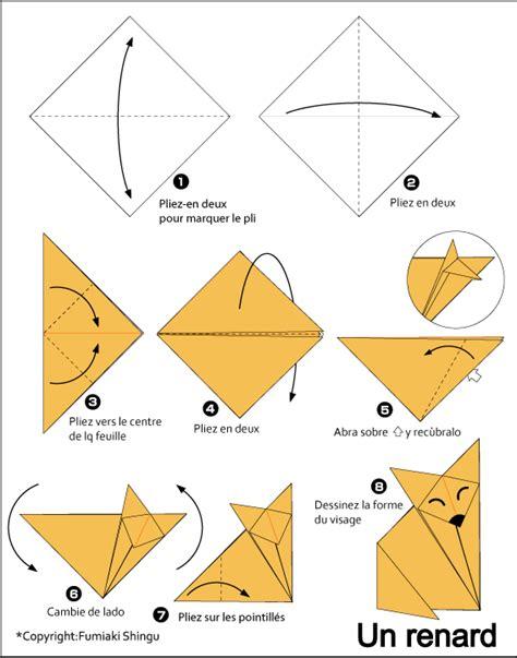 Easy Origami Sea Creatures - renard