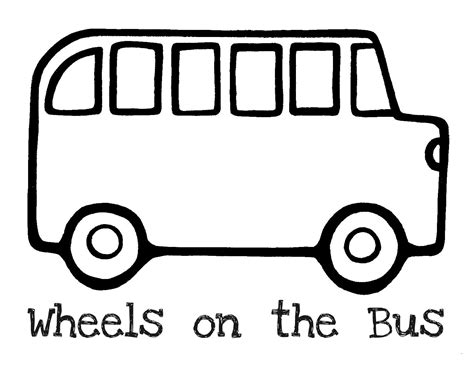 free outline of a bus coloring pages
