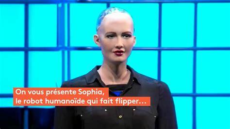 film robot humanoide video sophia le robot humano 239 de qui fait un peu peur