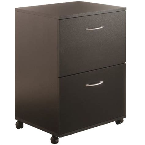Nexera Mobile 2 Drawer Mobile Wood Black Filing Cabinet Ebay Black File Cabinet Wood