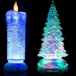 tree electric candles 24cm swirling led colour changing flameless flickering