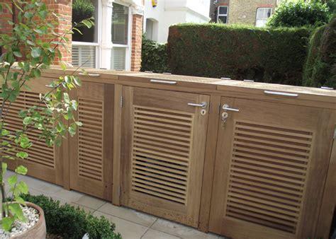 Designer Garage Doors Residential wheelie bin store lisa cox garden designs blog