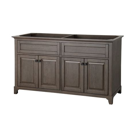 Lowes Bathroom Vanities On Sale Allen Roth Flda6021 60 In Specialty Grey Flintshire Contemporary Bath Vanity Lowe S Canada